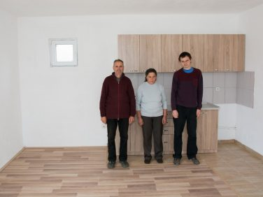 Stojanovic family moved into their new home