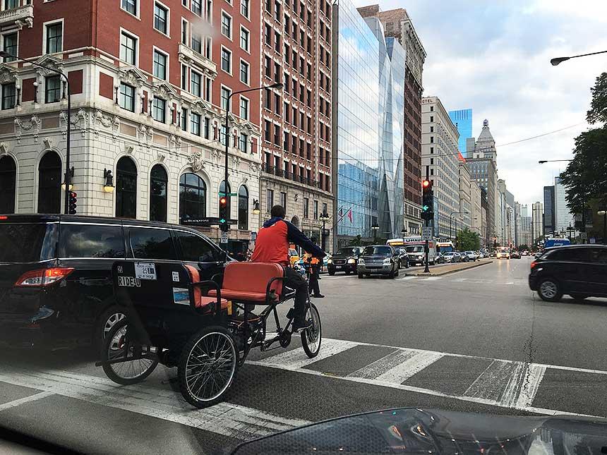 Chicago rickshaw drivers for the children of Kosovo and Metohia
