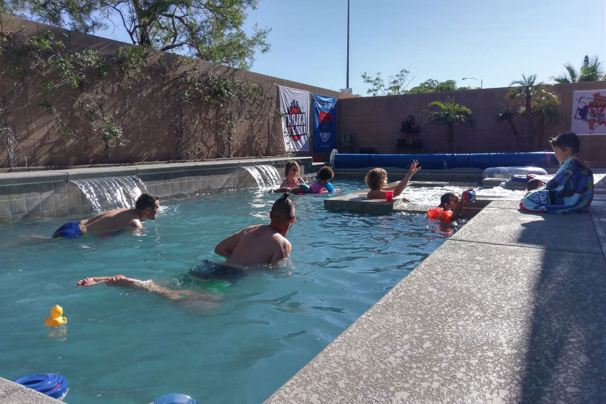 The pool party from the block successfully held in Las Vegas