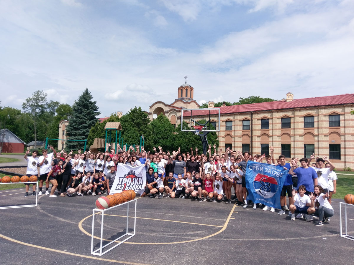 Mini three-pointer from the Block second time in New Gracanica Monastery!