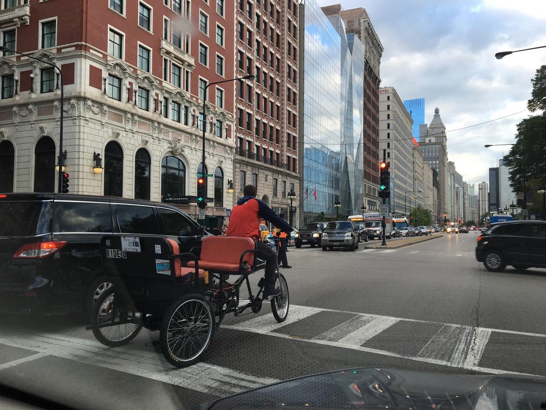 Chicago rickshaw drivers for the children of Kosovo and Metohija